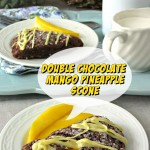 Double Chocolate Mango Pineapple scone