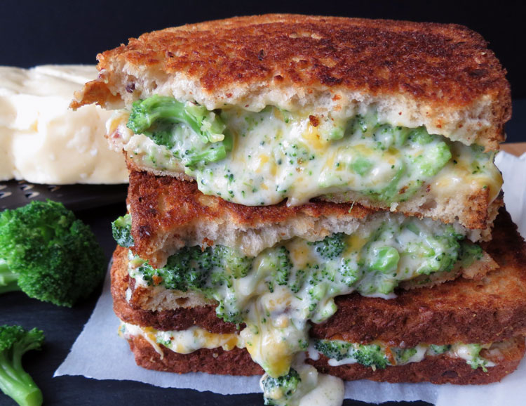 broccoli grilled cheese