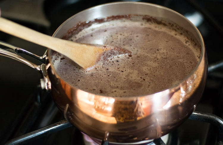 stir in chocolate