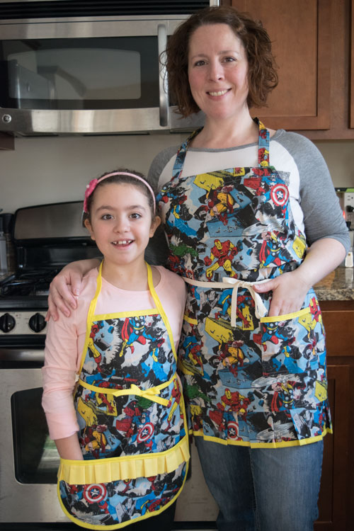 mother daughter apron