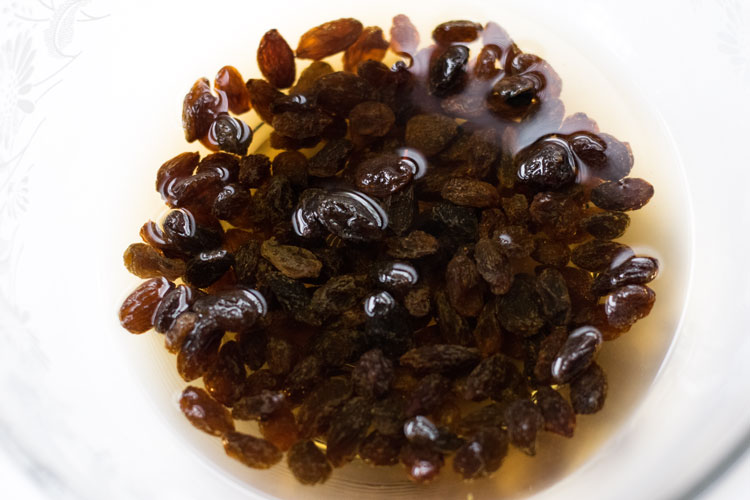 raisins in whiskey
